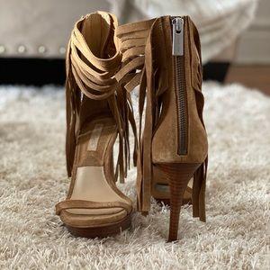 Michael Kors Daphne Fringe Platform Heels Sandals